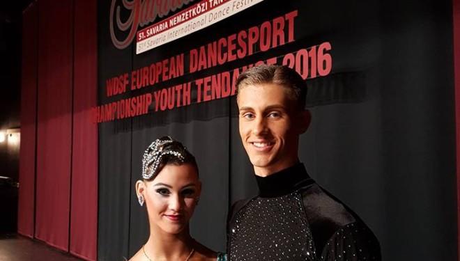 9. hely az Ifjúsági Tíztánc Európa-bajnokságon