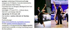 Fiú táncpartnert keresek B-A felnőtt latin kategóriában (esetleg 10 tánc)